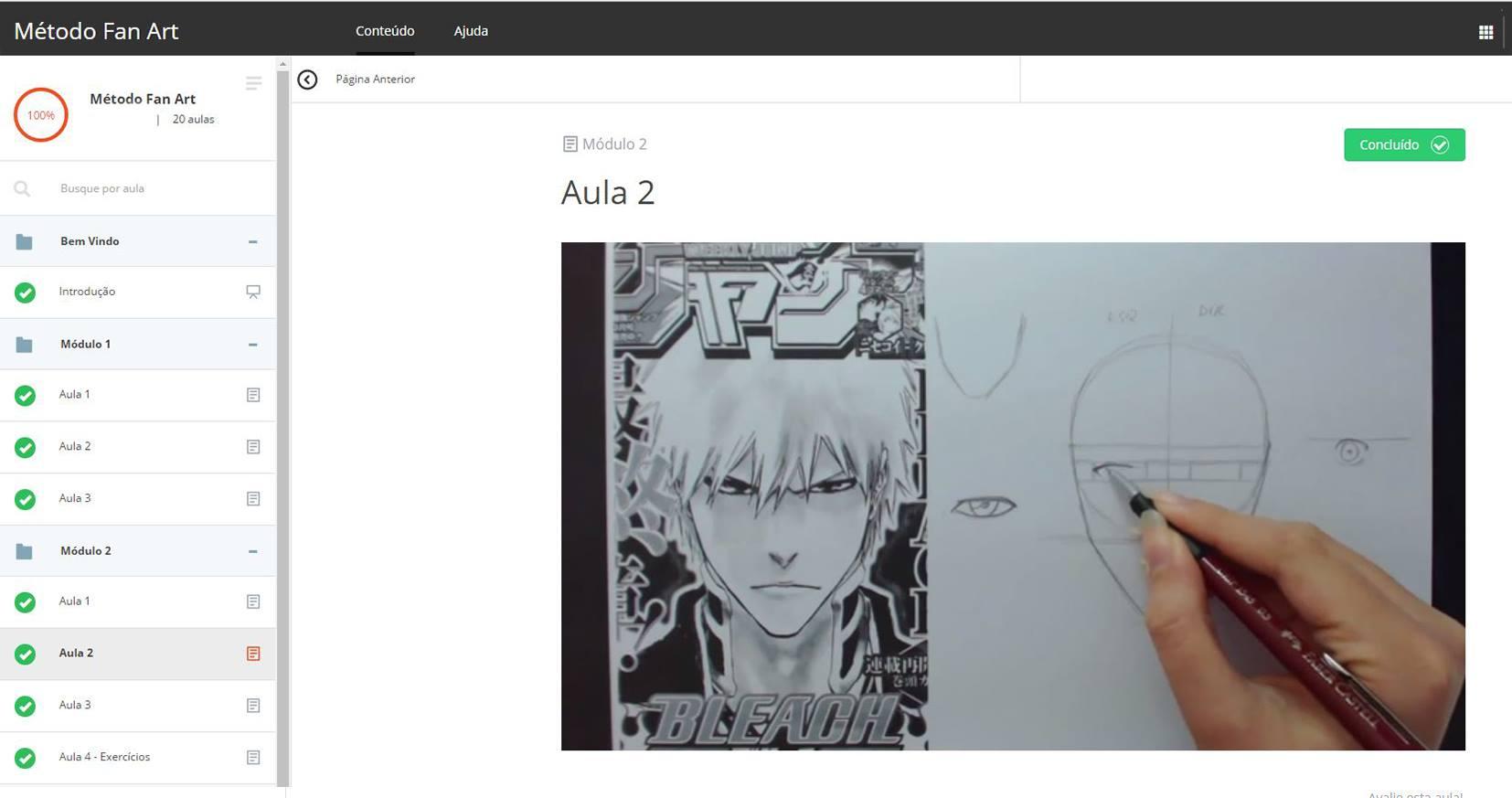 Area de Membros 0 - CURSO DE DESENHO MÉTODO FAN ART irá te ensinar a desenhar o seu personagem favorito de Anime/Manga